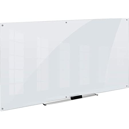 AmazonBasics Glass Dry-Erase Board - Frosted, Non-Magnetic, 8' x 4'