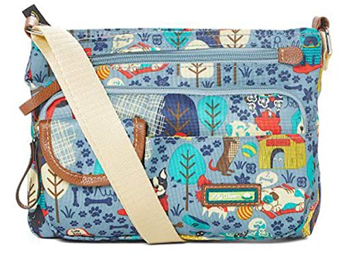 Lily Bloom Cora Mid Crossbody Bag (Who Let The Dogs Out)