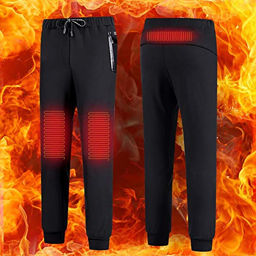 Beheizte Hosen, USB Elektrische Heizhosen Waschbare Thermohosen Baumwolle Samt Winter Warme Hosen für Männer und Frauen