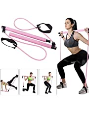 LULALAY Yoga Resistance Bands Pilates Stick Elastic Pull Rope Fitness Bar Kit Home Gym Exercise Leg Body Building Training Equipment