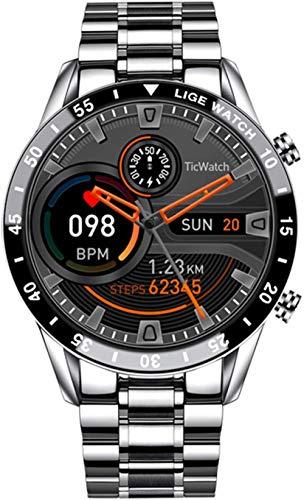 Reloj inteligente para hombre con correa de malla y correa de malla, ideal para Android y iOS resistente al agua