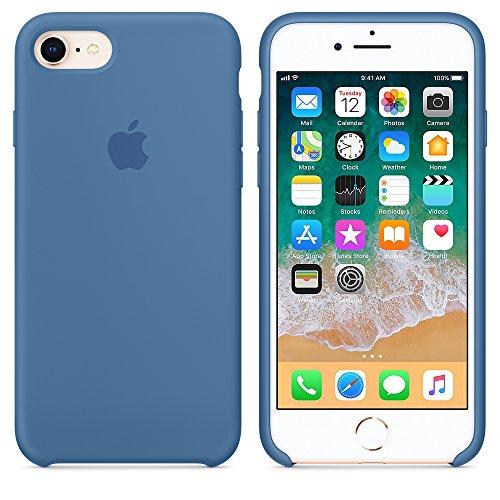 Funda para iPhone 7/8 Carcasa Silicona Suave Colores del Caramelo con Superfino Pelusa Forro,Anti-rasguños Teléfono Caso para Apple iPhone 7/8 (Azul Vaquero)