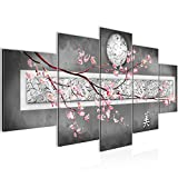 Cuadro Flores abstractas Decoración de Pared 200 x 100 cm Forro polar - Lienzo...