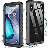 Oterkin for iPhone X Case/iPhone Xs Case Waterproof, Built-in Screen Protector Dustproof Shockproof 360 Full Body Protective Daily-Use IP68 Waterproof Case for iPhone X/XS(5.8inch)