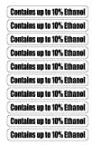 Contains up to 10% Ethanol for Gas Station Pumps (10 Pack) Decals Stickers1'x7'