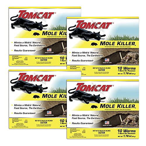 Tomcat Mole Killer Worm Bait, 10 Count (Pack of 4)