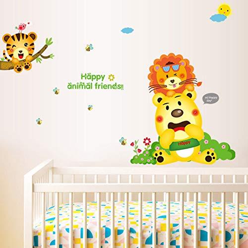 Stickers muraux Happy Animal Friends for Kids Chambres Chambre de bébé Chambre d'enfant Chambre Salon Stickers muraux Diy Affiche Murale