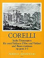 CORELLI - Trio Sonatas (6) Op.Postumo Vol.1: nコ 1 a 3 para 2 Violines (2 Flautas) y Piano(Pauler/Hess)