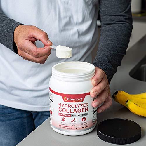 Colageno Hidrolizado - Péptidos sin sabor en polvo de bovino - Grass, Alimentado por hierbas, Paleo/Keto Friendly para mujeres y hombres - para huesos saludables, articulaciones, cabello y piel - Colageno Hidrolizado en Polvo