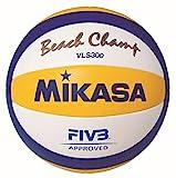 MIKASA, Beach Champ, VLS300 - Pallone da Beach Volley, Unisex, 1608, Blau-Weiß-Gelb, 5