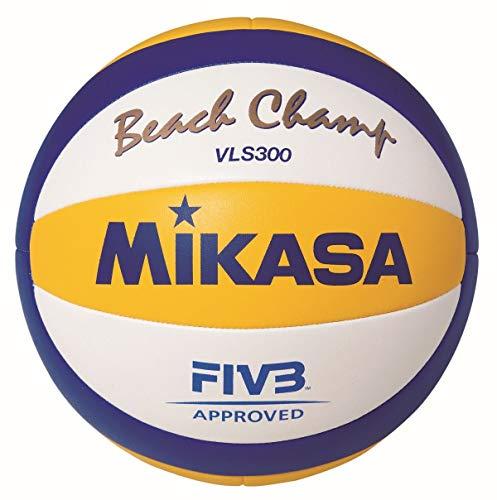 MIKASA Beach Champ Vls 300, Pallavolo Unisex-Adult, Blu/Giallo/Bianco, 5