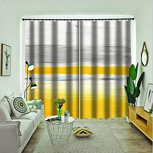 Oukeep Double Thickened Blackout Curtains 3D Digital Printing Realistic Pattern Curtain Two Installation Methods Of Curtains 2 Pieces