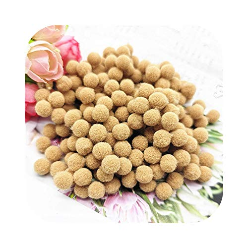 happy-Boutique Pompom 8 mm 10 mm 15 mm 20 mm 25 mm 30 mm Soft Plush Craft DIY Ball Decoration at Home Sewing - 22 Khaki-30 mm - 22 Pieces 20 g