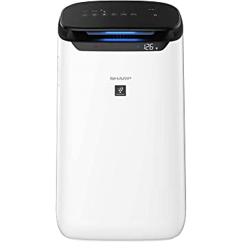 Sharp Air Purifier for Homes & Offices | Dual Purification - ACTIVE (Plasmacluster Technology) & PASSIVE FILTERS (True HEPA H14+Carbon+Pre-Filter) | Captures 99.97% of Impurities | Model:FP-J60M-W | White