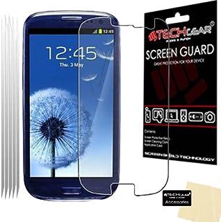 TECHGEAR [5-pack] Anti-bländning skärmskydd för Galaxy S3 – Matt skärmskydd skyddar kompatibel med Samsung Galaxy S3 i9300