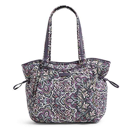 Vera Bradley Women's Signature Cotton Glenna Satchel Purse Handbag, Bonbon Medallion, One Size US