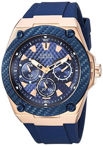 GUESS Reloj analógico para Hombre de con Correa en Silicona U1049G2