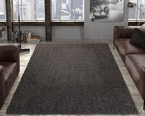 "Ottomanson SHG2764-8X10 Solid Shag Rug, 7'10"" x 9'10"", Charcoal Gray"