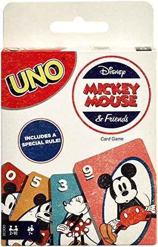Mattel Games-Uno Versione Mickey Mouse, Gioco di Carte, GGC32