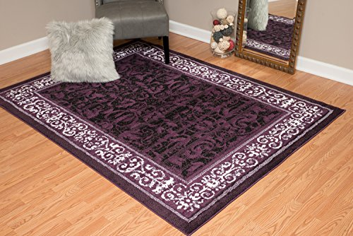 United Weavers of America Dallas Baroness Rug, 8 x 10', Plum