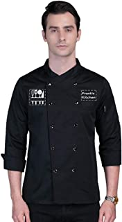 Add Your Own Custom Text Name Personalized Message or Image Printing on Chef Jacket Hotel Kitchen Restaurant Chef Coat