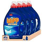 Wipp Express Detergente Líquido, Gel Azul 30 Lavados - Pack de 4, Total: 120 Lavados