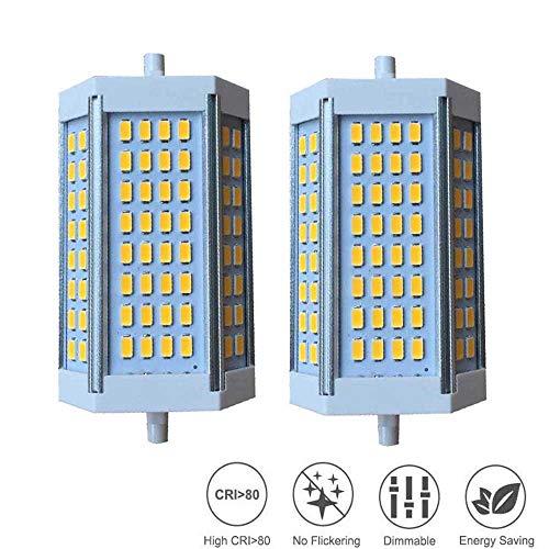 ZQYR Lamp# R7s LED 118mm 25W Dimmbar Linear R7s LED Leuchtmittel, 250W J118 J Typ LED Birne Halogenlampe Flutlicht Ersatz, AC 230V Warmweiß 3000K Birne, 2er-Pack,Whitelight