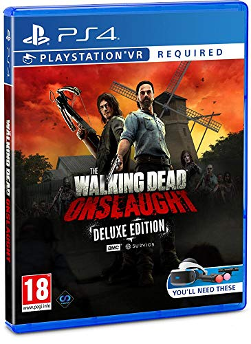 The Walking Dead Onslaught The Golden Weapons Deluxe Pack PS4 VR Requis Exclusivité Amazon (PS4)