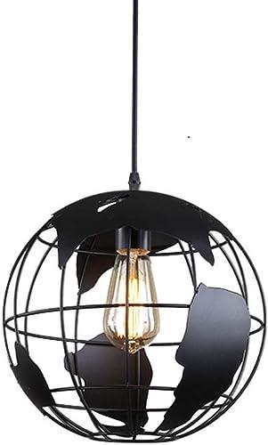 LCTCDD Lustre moderne créatif de style de LED Lustre rond simple de tête (30cm   40cm) (Couleur   NOIR, taille   Diamètre 40cm)