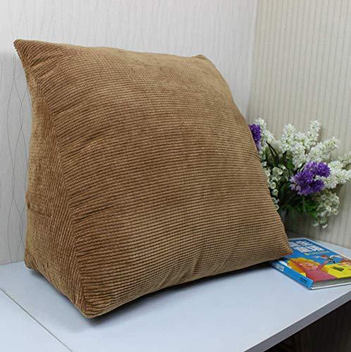 NUBAO Soft Lettura Cuscino Triangolo Triangolo Indietro Cuscino a corduroy cuneo cuscino divano letto posteriore supporto cuscino cuscino ufficio sedia riposata cuscino lombare con coperchio rimovibil