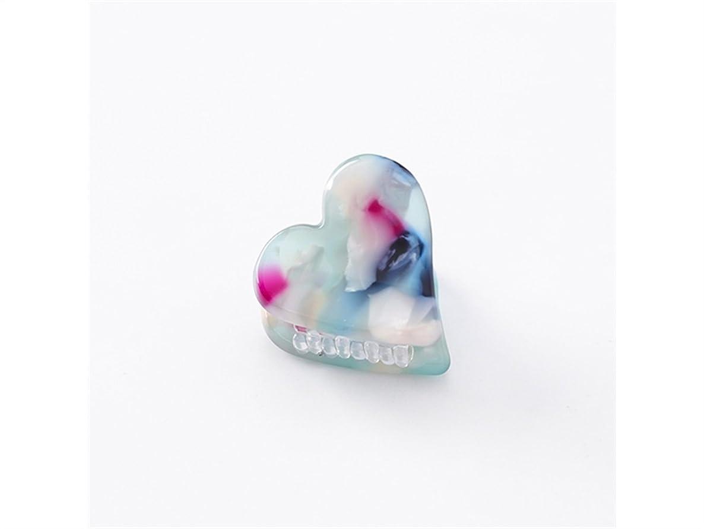 プロテスタント時刻表貯水池Osize 美しいスタイル ラブハート型の紋章印刷ミニ爪クリップミニ顎クリップ(パープル+ブルー)