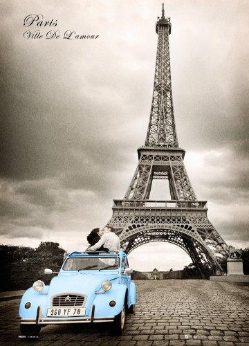 GB eye - Póster lenticular 3D de pareja en París (47 x 67 cm)