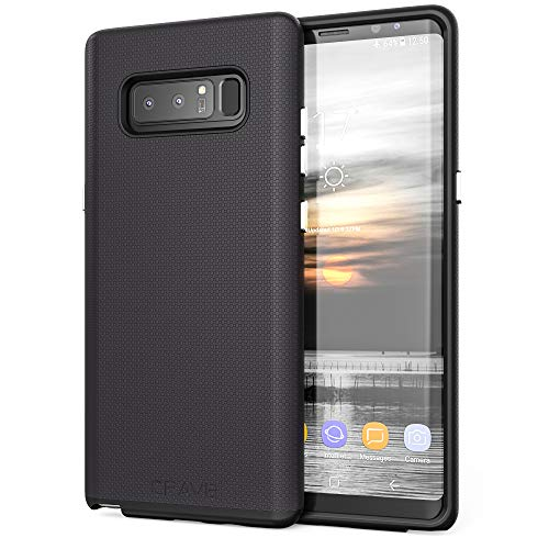 Note 8 Case, Crave Dual Guard Protection Series Case for Samsung Galaxy Note 8 - Black