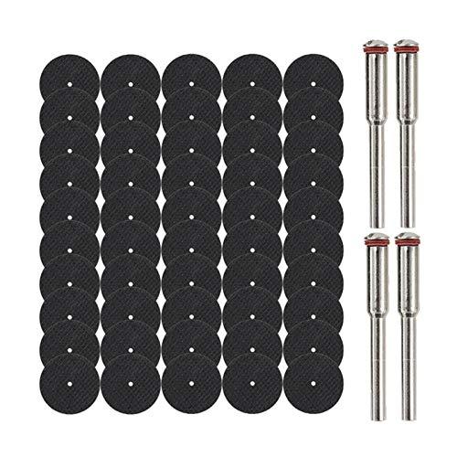 Durable Discos abrasivos de corte de la rueda, mandriles for accesorios Dremel, herramientas rotativas de corte de metal, hojas de sierra, 54 PC. Adecuado para cortar (Color : 54pcs Set)