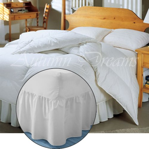 Extra Halskrause Valance Spannbettlaken in 5Größen, pfirsich, Doppelbett 35,6 cm