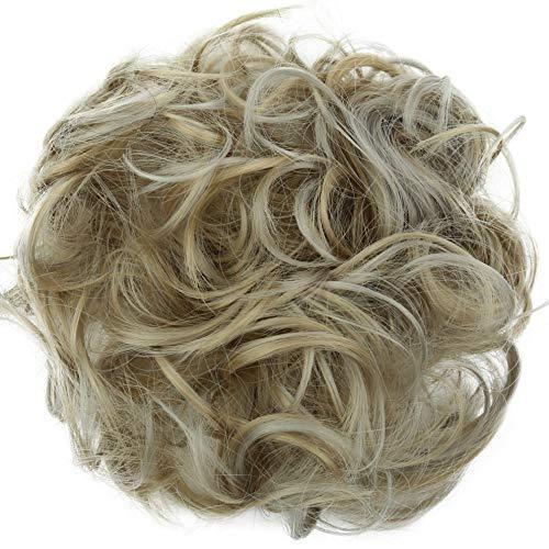 PRETTYSHOP Haarteil Haargummi Hochsteckfrisuren Brautfrisuren Voluminös Gelockt Unordentlich Dutt Aschblond Mix G32A