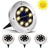 QSSTech LED Luce Solari Giardino Esterno, 4 Pezzi 8 led Lampada Solare da Giardino Faretti...