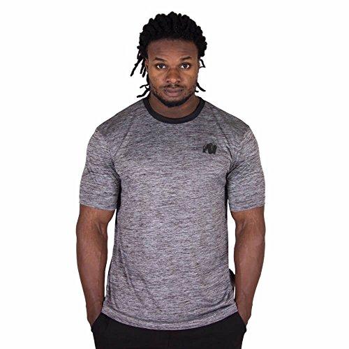 GORILLA WEAR Roy T-Shirt - grau - Bodybuilding und Fitness Bekleidung Herren, XXL