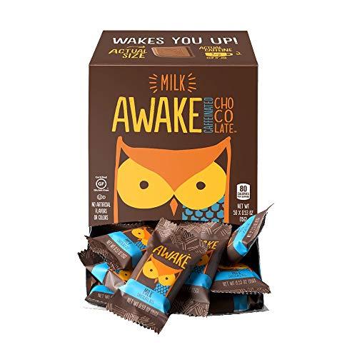 Awake Caffeinated Chocolate Energy Bites, Milk Chocolate, 50 Count