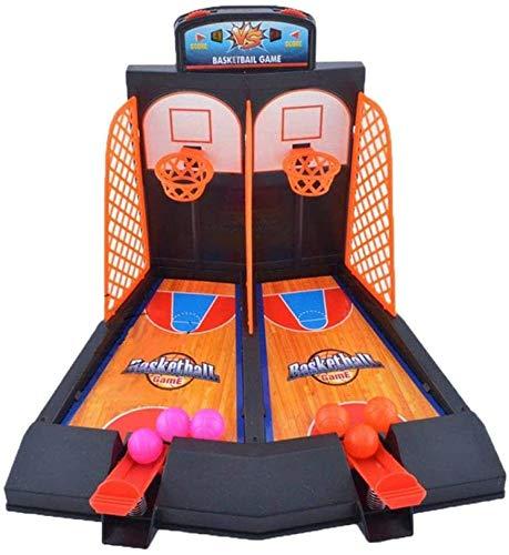 ZLYP Juego de mesa de 2 jugadores, juego de niños interactivo batalla catapulta, juego de baloncesto de dedo de escritorio con anotador para niños