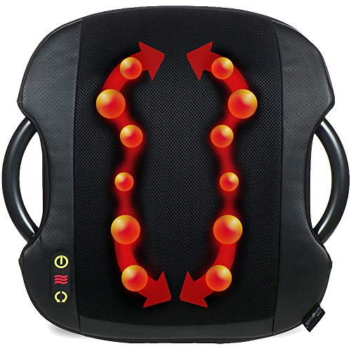 Check Out This Shiatsu Massage Cushion with Heat | Lumbar Support Back Massage | Portable Handles fo...