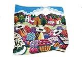 Perú peruano Alpacaandmore tejido a mano alfombra tejida diseño de hojas de alfombra de diseño de flores de diseño de campo de 120 x 100 cm