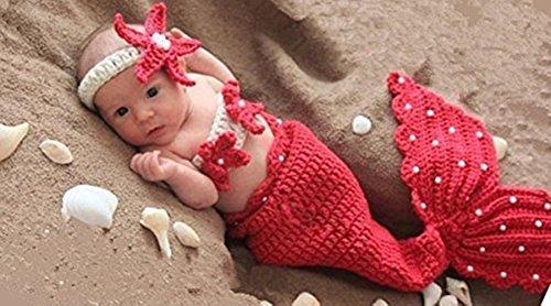 Costume a maglia Moda Neonato ragazzo della neonata Puntelli Fotografia attrezzature cute sirena