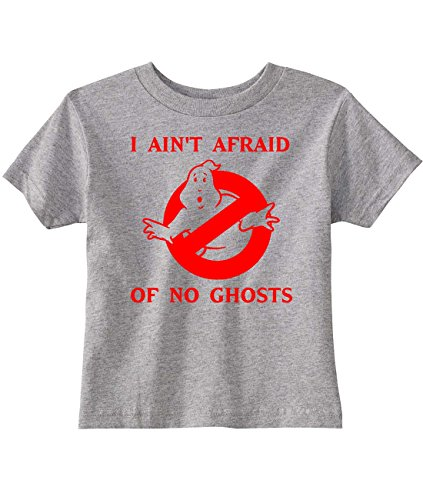 Ghostbusters Toddler I Ain't Afraid of No Ghosts T-Shirt, Gray, Pink or Black