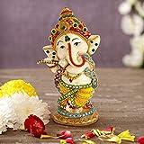 TIED RIBBONS Ganesh Statue (5.5 inch x 2.3 inch, Multicolor) - Ganesha Idol for Table Desktop Indian God Idol Figurine Gifts