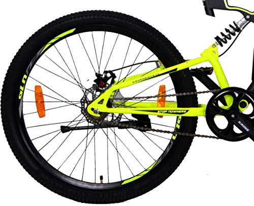 Kross K-40 Nu 24T SS Bicycle (Black-Yellow, Ideal for : 9 to 11 Years)