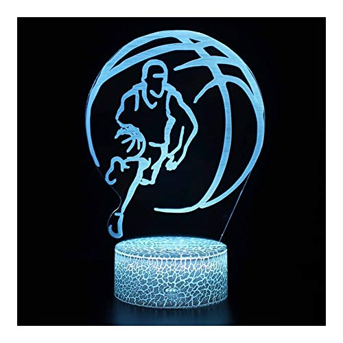 Buy Bargain TXOZ USB Basketball lamp 3D Night Light Basketball Gifts 7 Colors Change with Remote Con...