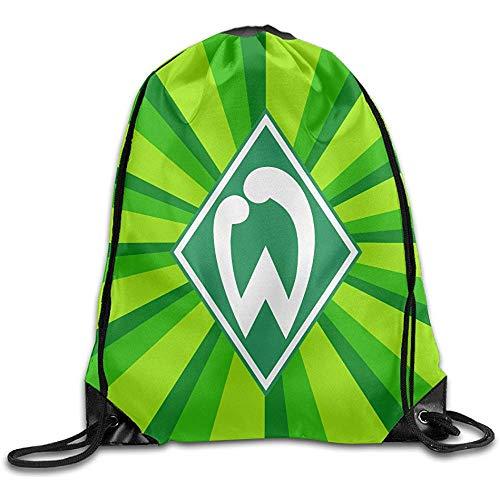 SV Werder Bremen Rucksack mit Kordel, Aufbewahrungstasche, bedruckt, Kordel, Tasche für Klettern, Wandern, Reisen