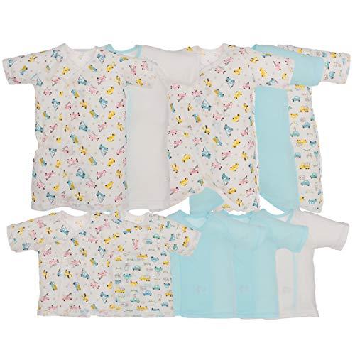 西松屋 (EFD)10枚組フライス肌着セット(花・冠・のりもの)【新生児50-60cm】 新生児 ブルー(のりもの)
