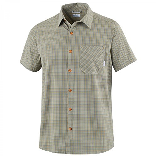Columbia Error:# Chemise Manches Courtes Homme, Safari Plaid, FR : S (Taille Fabricant : S)